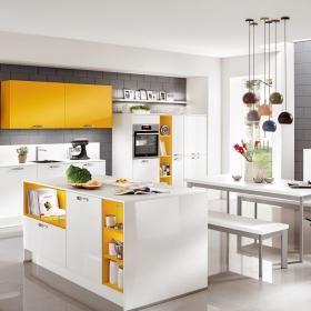 Nobilia niemiecka marka wysoka jakość niemieckich mebli kuchennych. Lack, Alpinweiß Ultra-Hochglanz
