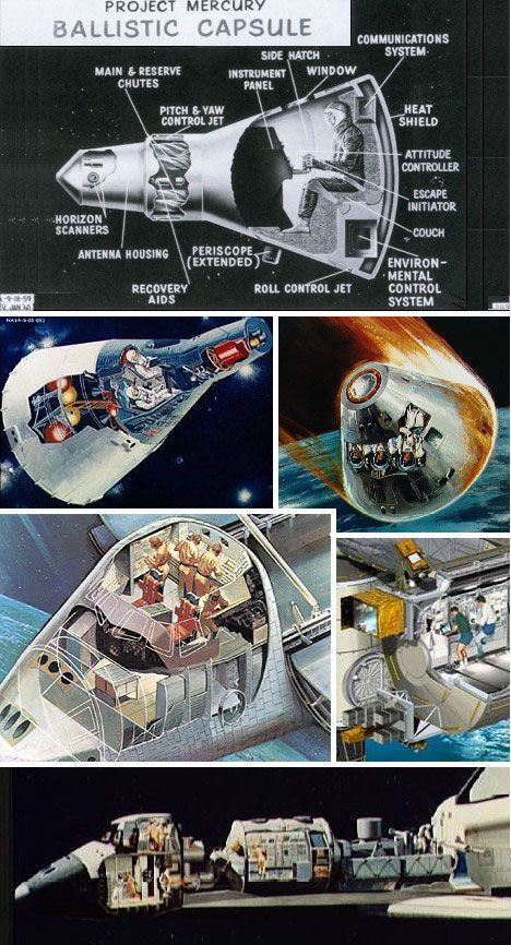 Spaceship cutaway shows remarkable simplicity | Gadgets ...