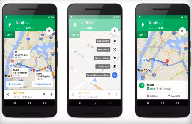 New Google Maps update will let you add directions to the nearest gas stations during navigation
