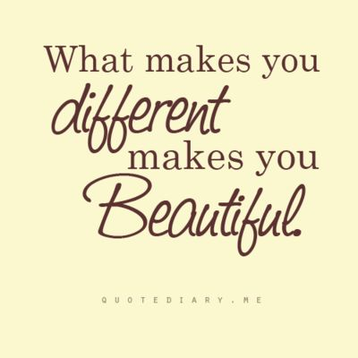 What makes you different...