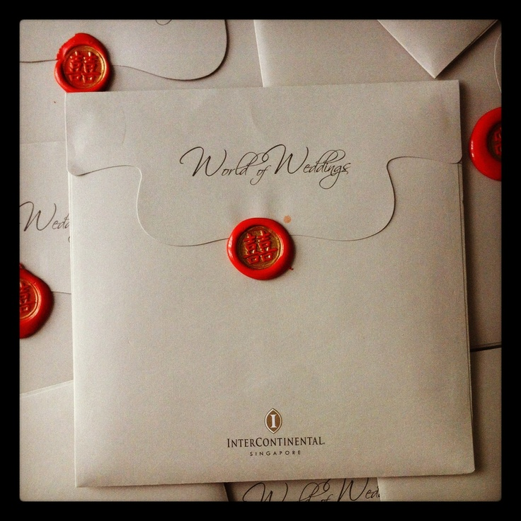 Double happiness symbol wax seal for wedding