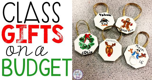 Class Gifts on a Budget - #christmas #kids #crafts