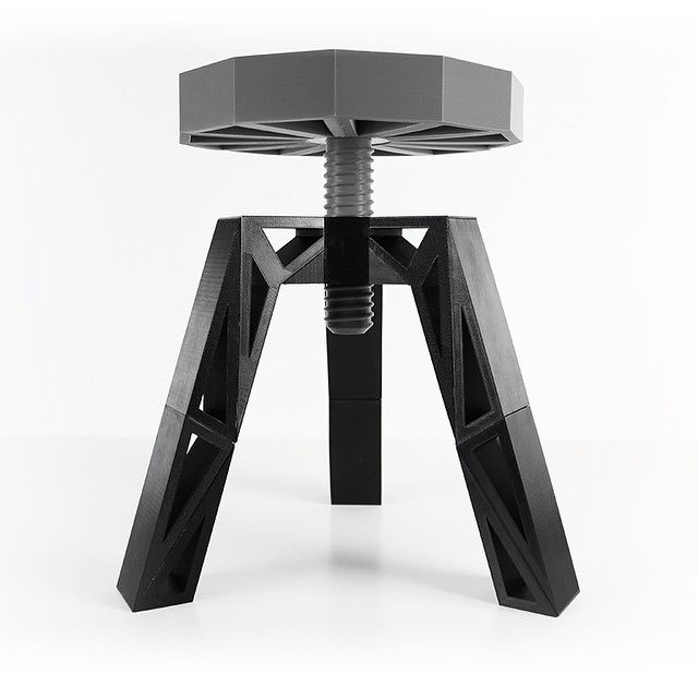 3D printed stool by Zortrax