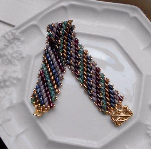 The Beadtender – Peyote Superduo Bracelet/Earrings