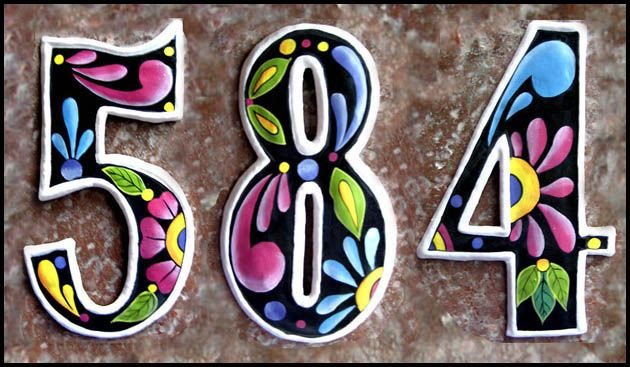 decorative house numbers | decorating ideas