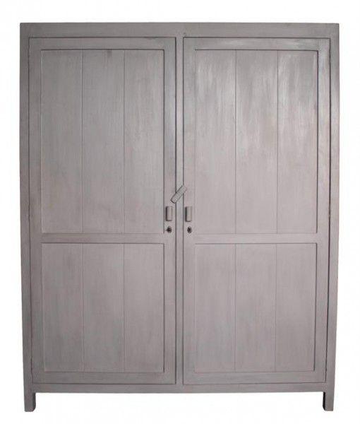 Cabinet Reclaimed Teak Wood XL Grey