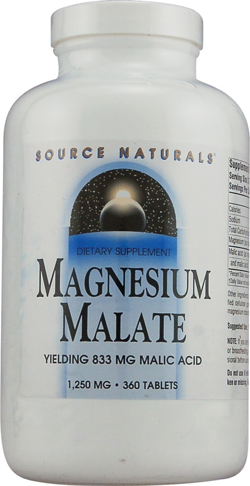 Source Naturals Magnesium Malate -- energizing.  Good for fibro.  Take in morning.