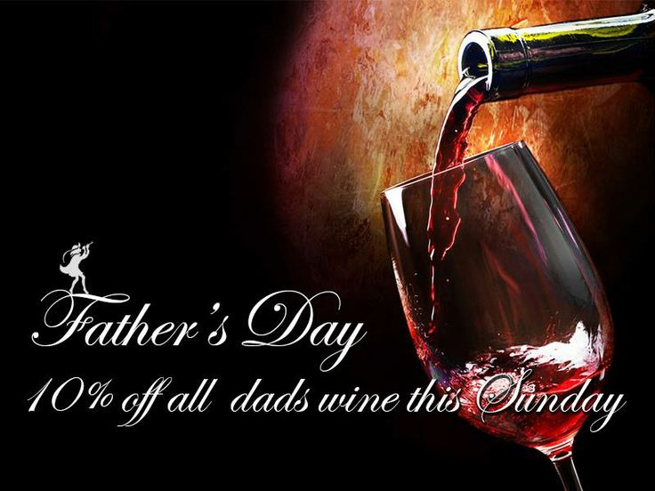 Dads receive a 10% discount on all wine purchases thid Sunday. Available in the tasting room only. Much love to all the Dads!