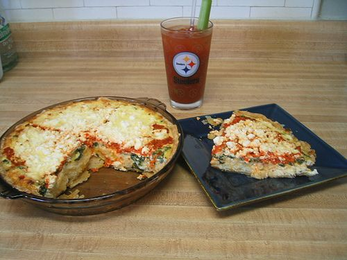 Four Cheese and Roasted Red Pepper Quiche (Football brunch!)