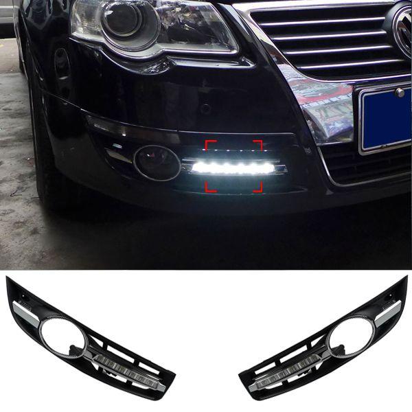 6 LED DRL Daytime Running Light Car Styling Modification Fog Lamp for Volkswagen VW Passat B6 2005 2006 2007 2008 2009 2010-2014