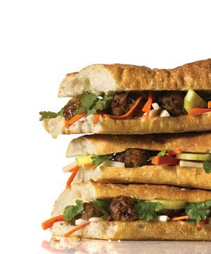 Vietnamese Banh Mi with Quick Pickled Vegetables