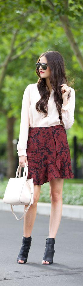 Burgundy / Fashion By Pink Peonies