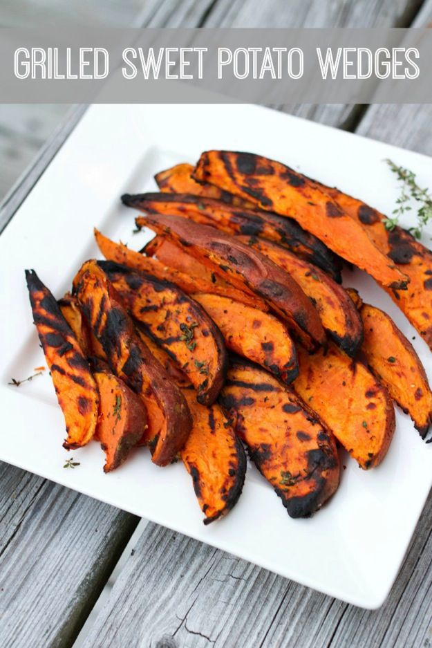 Forget frying and make potato wedges on the grill!