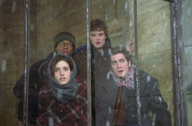 Still of Emmy Rossum, Jake Gyllenhaal, Austin Nichols and Arjay Smith in The Day After Tomorrow (2004)
