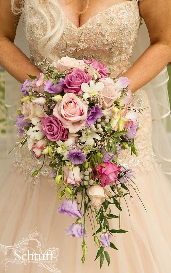 Cascade Bridal Bouquet Instructions : Best images about blue purple wedding on