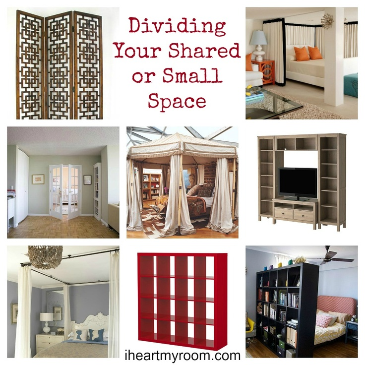 Great ideas for privacy in a shared space or studio apartment! #dorm #decorating #dividingspace