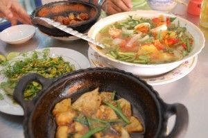 A typical Mekong lunch - The Mekong Delta: Phnom Penh to Saigon
