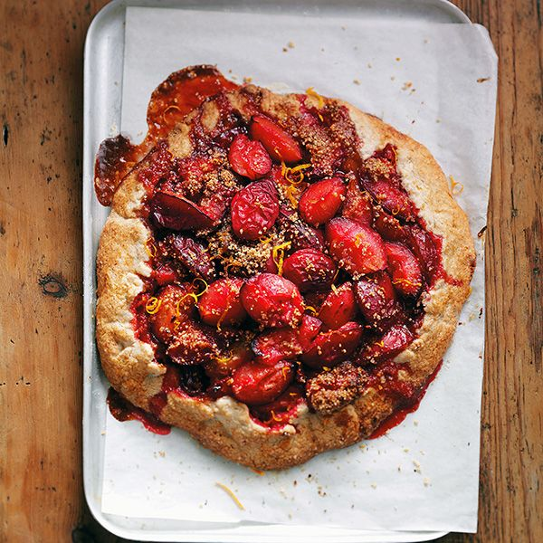 FREE-FROM HAZELNUT, PLUM & CINNAMON TART | sheerluxe.com