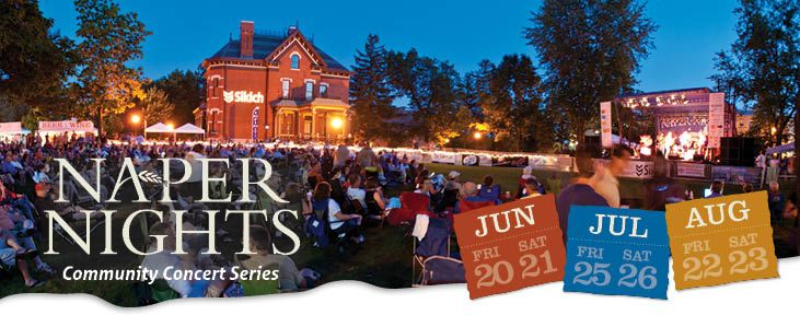 The Naper Nights Community Concet Series will take plave July 25th and 26th, as well as August 22nd and 23rd. Enjoy cold drinks and fabulous food with family and friends on Naper Settlement's 12 acre estate while listening to some amazing tribute bands and local legends