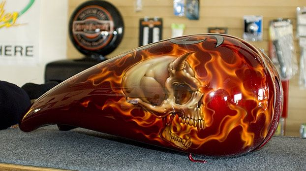 Football Gas Tank : Best images about airbrush on pinterest motorcycle
