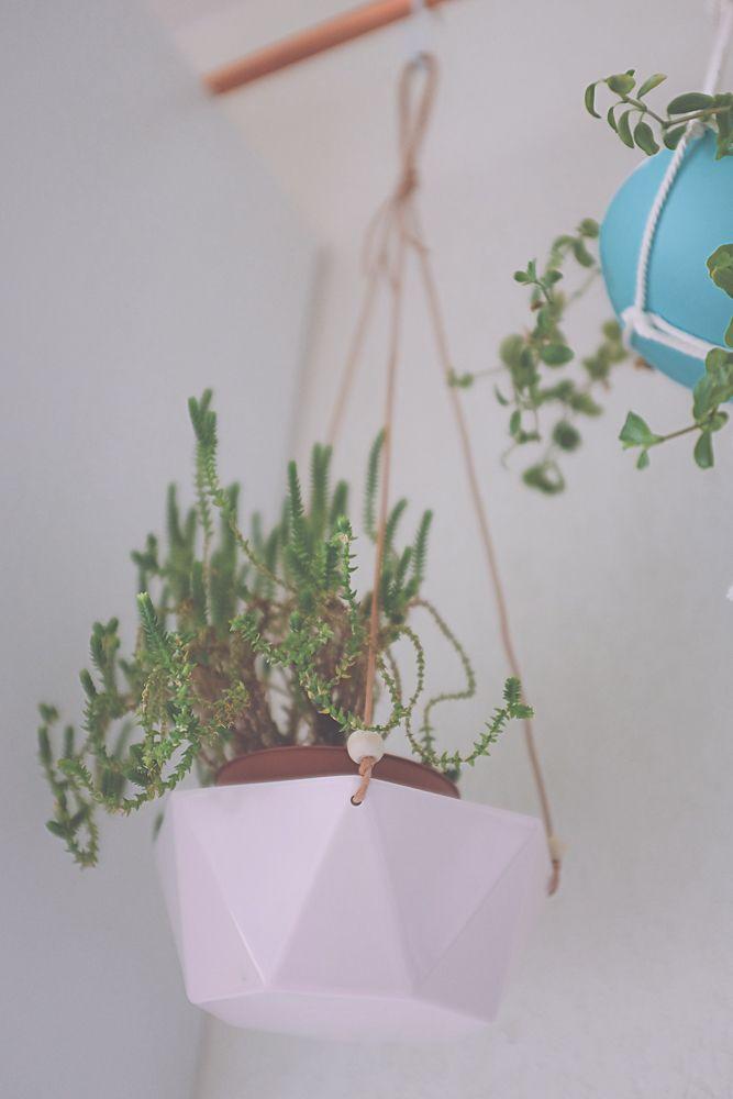 diy transformer un bol en suspension pour plante places planters and a bowl. Black Bedroom Furniture Sets. Home Design Ideas