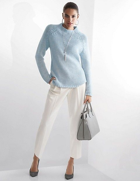 a6c0a20f079995 Kaschmir-Pullover, perlmutt/wollweiß, rosa   MADELEINE Mode   Tops ...