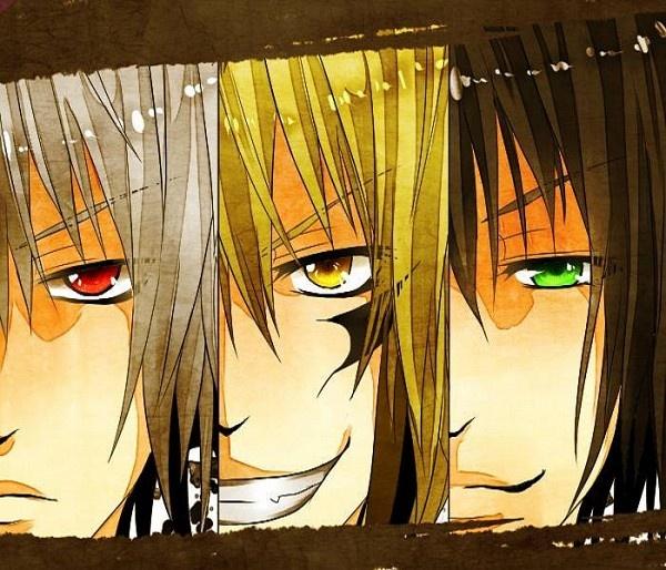 Rikuo, Rihan and Nurarihyon from Nurarihyon no Mago / Nura: Rise of the Yokai Clan