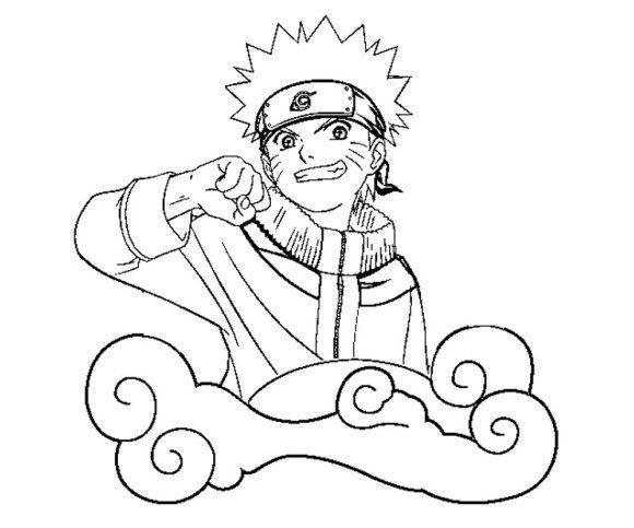 Cartoon Coloring Uzumaki Naruto Coloring Pages Uzumaki Naruto