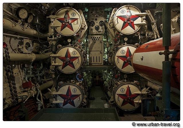 Russian submarine torpedo room