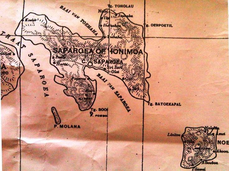 Old Map Of Saparua | Maluku