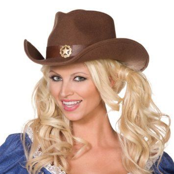 Let's Party With Balloons - Smiffy's Wild West Brown Felt Cowboy Hat, $17.00 (http://www.letspartywithballoons.com.au/smiffys-wild-west-brown-felt-cowboy-hat/)