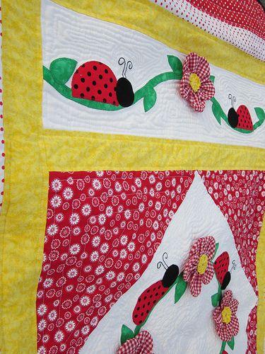 ladybug quilt - so cute!