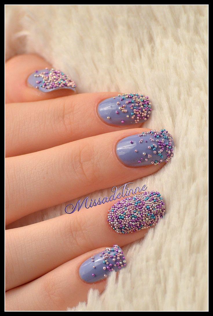 40 Diseños De Uñas Efecto Caviar ε Diseños De Uñas Decoradas з Nails