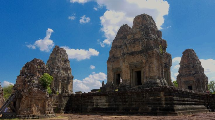 Angkor Wat - East Mebon Temple in Cambodia. For more on Angkor Wat travel check out http://ajourneyintotheunknown.com/angkor-wat-best-temples/