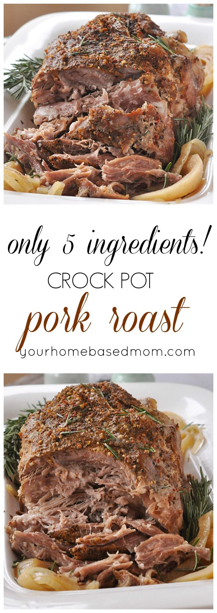 Crock Pot 5 ingredient Pork Roast