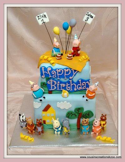 Peppa Pig Birthday Cake Cousin's Creations Birthday Cakes for Guys - Cousin's Creations
