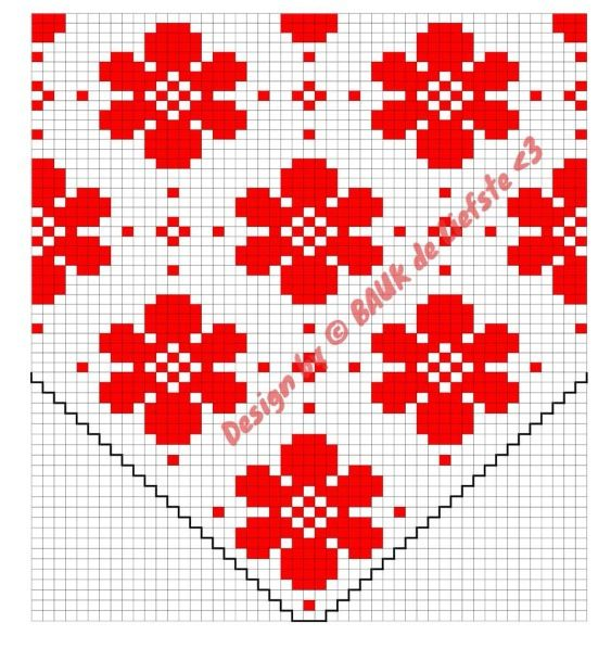 Fair isle pattern Flower Dot - made by Bauk*