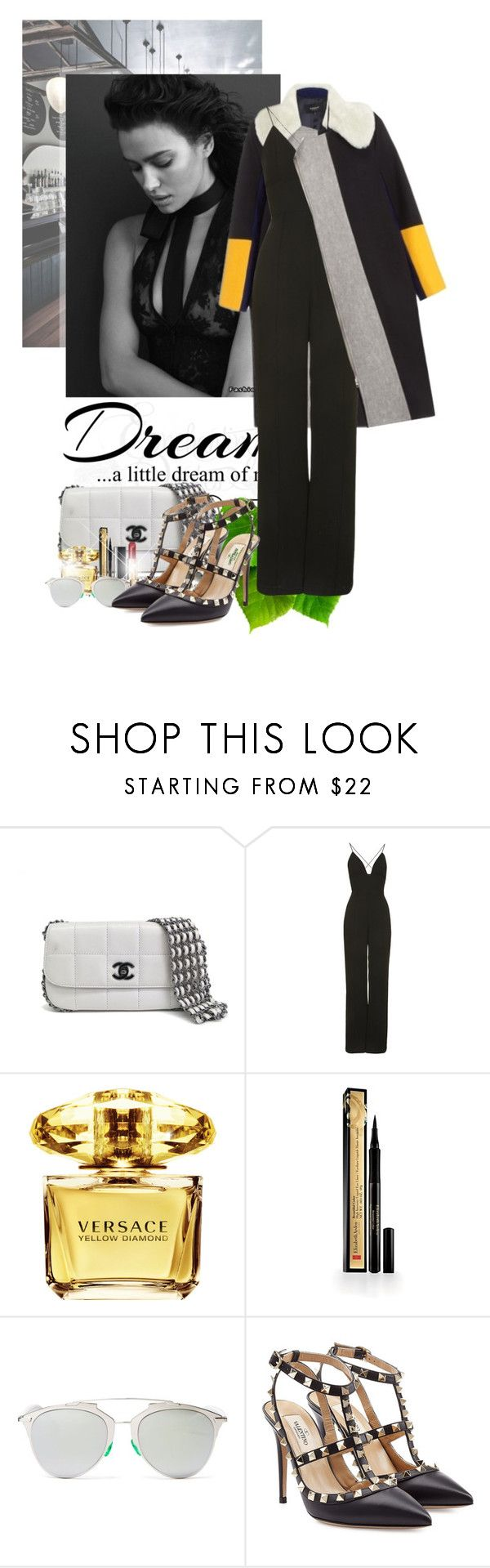 """""""No more secrets"""" by ionara ❤ liked on Polyvore featuring Love Quotes Scarves, Chanel, Rare London, Versace, Elizabeth Arden, Christian Dior and Valentino"""