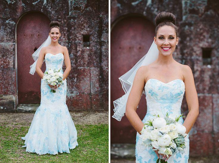Blue & white wedding dress SYDNEY, NEW SOUTH WALES {SYDNEY & BRISBANE WEDDING PHOTOGRAPHER}