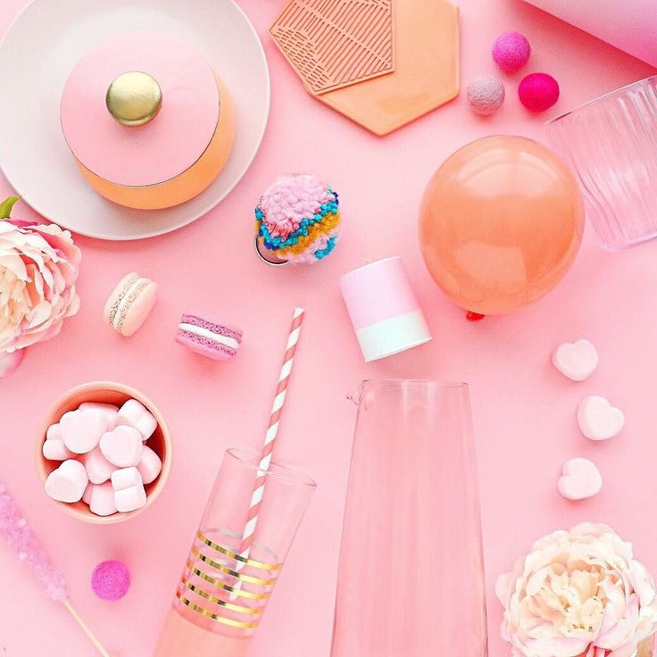 Playing with pink and peach styling props today!