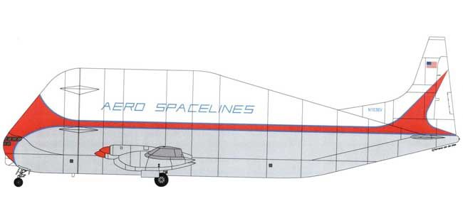 Aero Spacelines Super Guppy Cargo Aircraft 1:144 Scale Paper Model Free DownloadNone