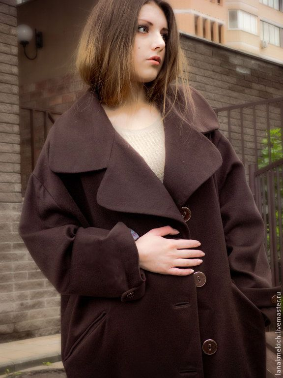 """Купить пальто-кокон осеннее кашемир """"Fashion"""" в интернет магазине на Ярмарке Мастеров"""