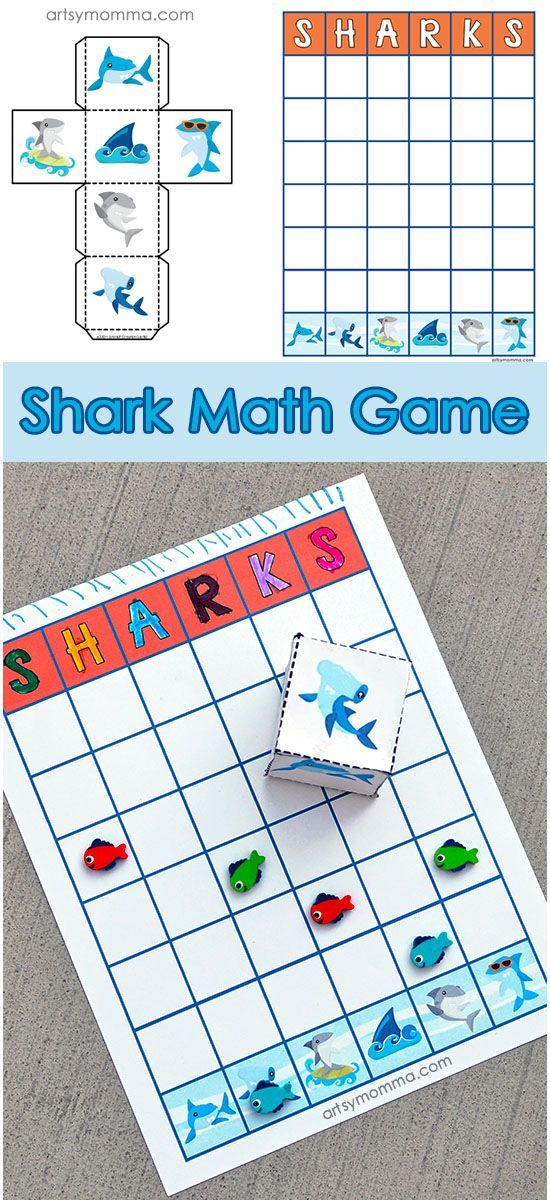 Make math fun with this Free Printable Shark Graphing Activity! Includes shark dice and a corresponding graph.