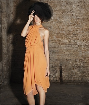 Beautiful tangerine dress