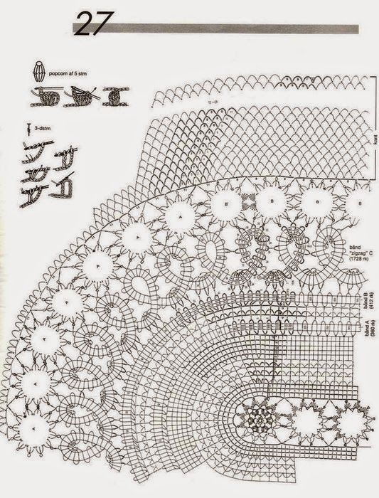 croche: OVAL tablecloth with the Edges Lace