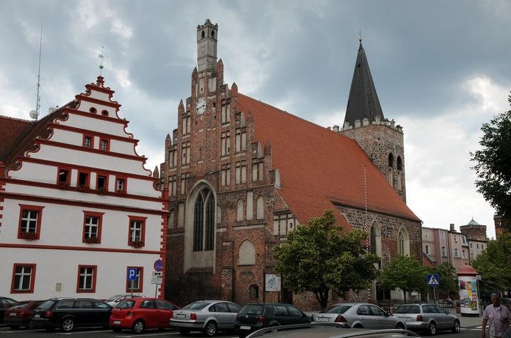 poland medieval architecture  - city hall, lubsko, poland