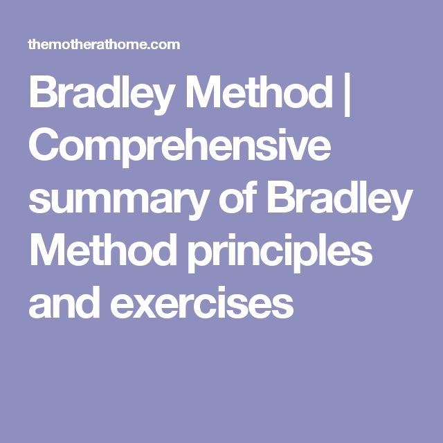Bradley Method | Comprehensive summary of Bradley Method principles and exercises