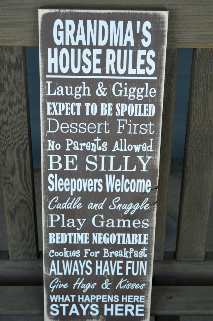 Mother's Day Gift - Grandma's House Rules Sign. $35.00, via Etsy.