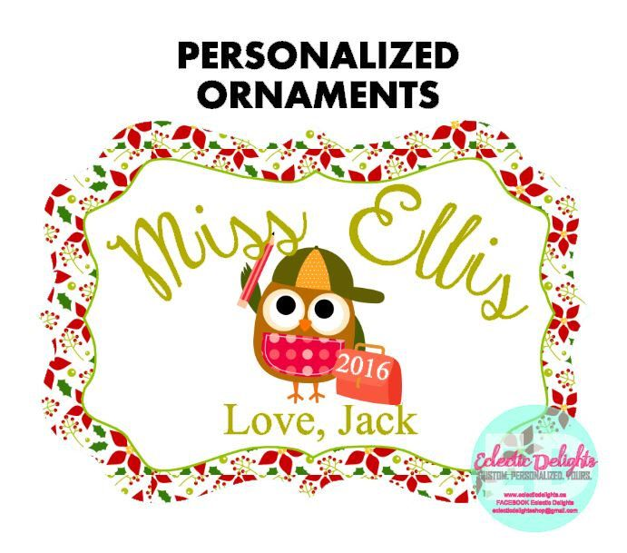 A personal favorite from my Etsy shop https://www.etsy.com/ca/listing/472118225/personalized-ornaments-custom-ornaments