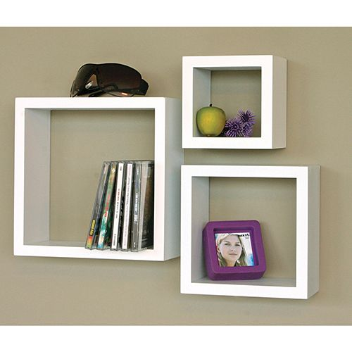 Nexxt Cubbi Wall Shelf (Set of 3) - White : Bookcases & Shelving - Best Buy Canada